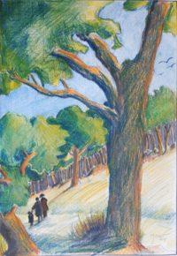 Promenade / Mines de couleurs/ 50 x 70