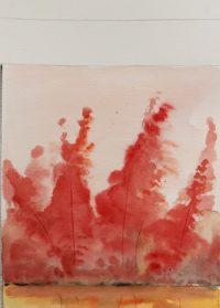 Forêt en automne / Aquarelle / 50 x 70