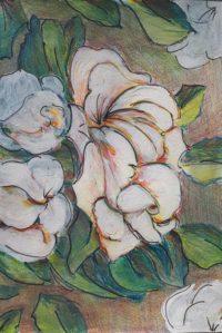 Nature florale / Aquarelle et encre / 50 x 70