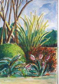 Recoin naturel / Aquarelle et encre / 50 x 70