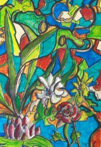 Univers floral / Aquarelle / 50 x 70