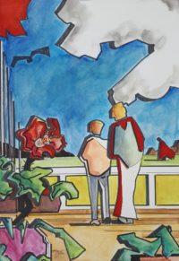 L'admiration 1 / Acrylique / 50 x 70
