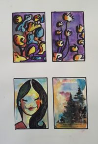 Projets / Acrylique et aquarelle / 50 x 70
