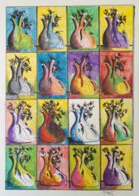 Fenouils et compagnie / Acrylique / 50 x 70