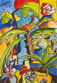 Végétation / Acrylique / 50 x 70