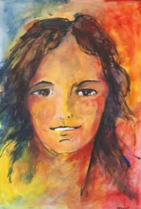 Portrait au sourire / Aquarelle / 50 x 70