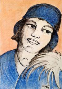 Sourire 1920 / Aquarelle / 50 x 70