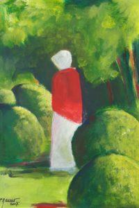 Au milieu des buis / Acrylique / 50 x 70