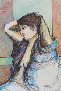 Coiffe / Encre et aquarelle / 50 x 70
