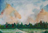 L'orée du bois / Aquarelle / 70 x 50