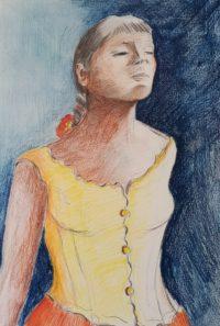 La danseuse / Mines de couleurs / 50 x 70