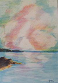 Aurore / mines de couleurs / 50 x 70