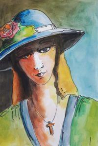 Portrait 2 / Aquarelle et encre / 50 x 70