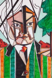 Homme au turban / Feutres de couleurs / 50 x 70
