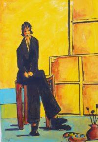 Femme assise 2 / Acrylique / 50 x 70