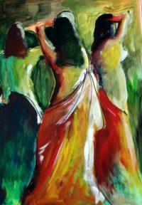 Danseuses / Acrylique / 50 x 70
