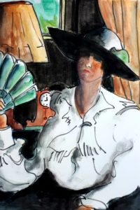 Portrait 1 / Aquarelle et encre / 50 x 70