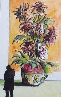 Une bien belle composition / Aquarelle et encre / 50 x 70