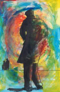Silhouette / Aquarelle et encre / 50 x 70