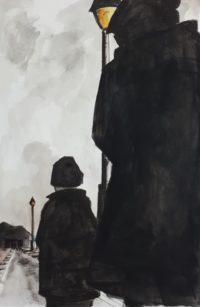 Silhouettes / Encre et aquarelle / 50 x 70