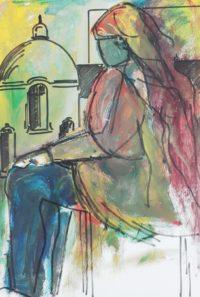 Rêve / Aquarelle et encre / 50 x 70