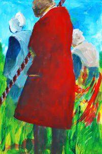 Le manteau rouge / Acrylique / 50 x70