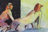 La pose calme / Mines de couleurs / 70 x 50