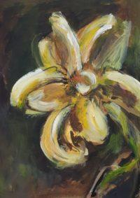 Iris jaune / Acrylique / 30 x 40