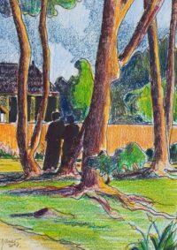 A l'orée du bois / Mines de couleurs / 30 x 40