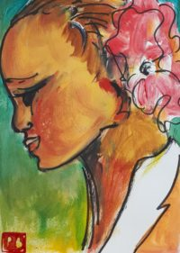 Portrait 3 / Acrylique et encre / 30 x 40
