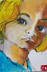 Portrait 5 / Acrylique et encre / 30 x 40