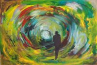 La fin du tunnel / Acrylique et encre / 70 x 50