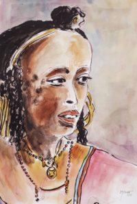 Beauté indigène / Aquarelle et encre / 50 x 70