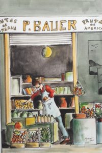 Frutas de America / Aquarelle et encre / 50 x 70