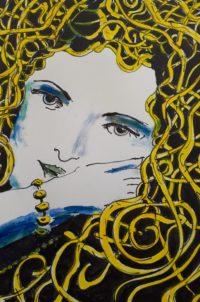 boucles d'or / Encre et aquarelle / 50 x 70