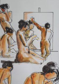 Séance 3 / Aquarelle et encre / 50 x 70