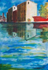 Reflets de la ville / Acrylique / 50 x 70