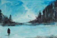 Seul en hiver / Acrylique / 70 x 50