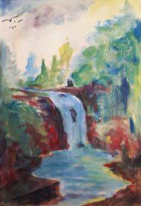 La cascade / Acrylique / 50 x 70