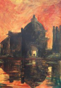 Venise à l'aube / Acrylique / 50 x 70