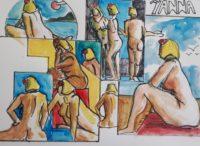 Yanna 1 / Aquarelle et encre / 70 x 50