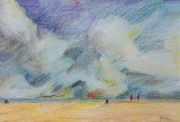 Marine / Mines de couleurs aquarelle / 70 x 50