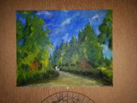 Promenade (vue d'ensemble) / Acrylique sur toile / 93 x 72