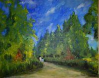 Promenade (détail) / Acrylique sur toile / 93 x 72