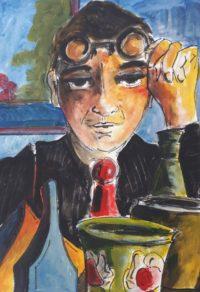 Examen des poteries / Aquarelle et encre / 50 x 70