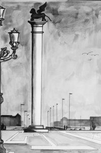Venise / Encre / 50 x 70