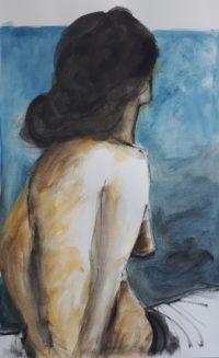 De dos / Aquarelle et encre / 50 x 70