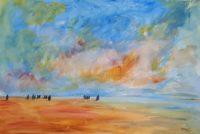 Marine par beau temps / Aquarelle / 70 x 50