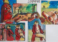Yanna / Aquarelle et encre / 70 x 50